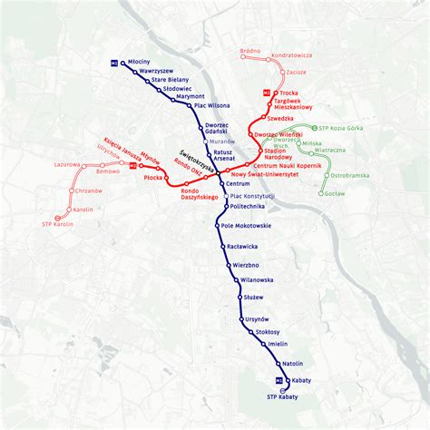 Warsaw Metro – Subway maps worldwide + Lines, Route, Schedules