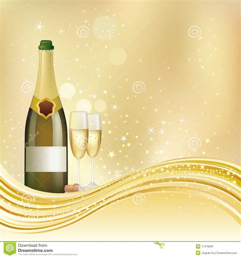 Champagne Celebrate Background Royalty Free Stock