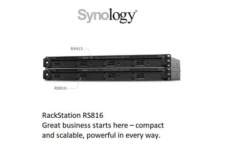 synology RS816 - Nas2u Solution