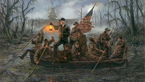 Twitter Erupts Over Painting of Trump and Cabinet