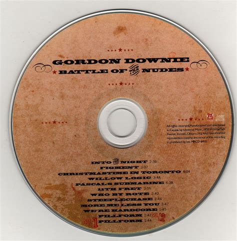 """Release """"Battle of the Nudes"""" by Gordon Downie - Cover Art"""