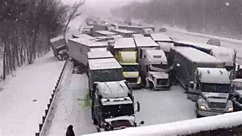 Three dead in massive pileup on I-94 in Indiana