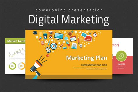 Digital Marketing Strategy PPT ~ PowerPoint Templates