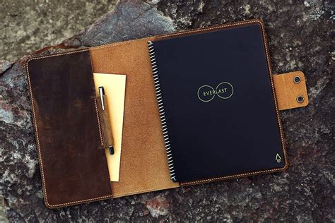 Personalized distressed leather everlast notebook cover