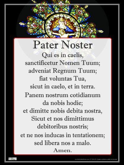 Latin: Pater Noster Paster Noster Wall