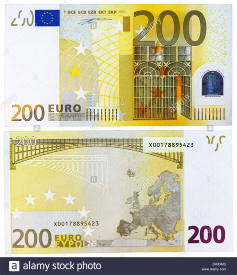 200 Euro banknote, Iron and glass architecture and bridge