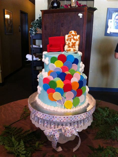 Up Themed Wedding Cake - CakeCentral