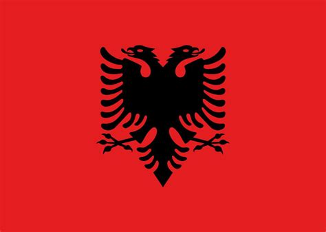 Flagge Albaniens anmalen - Country flags