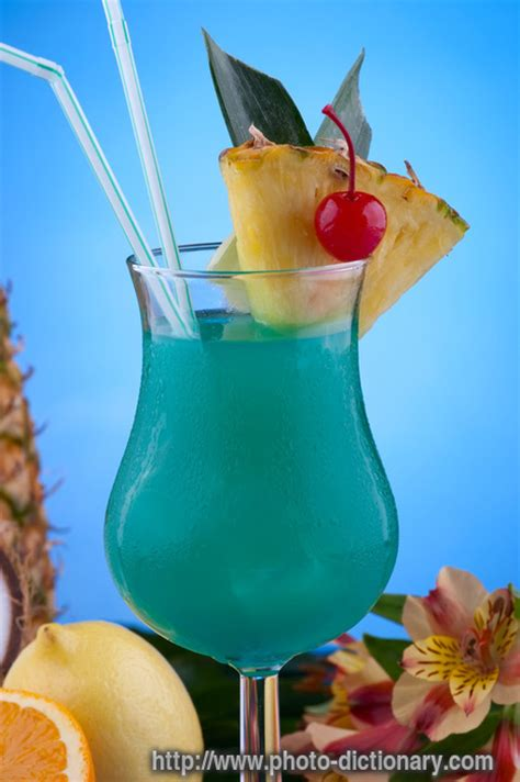 Blue Hawaii cocktail - photo/picture definition at Photo